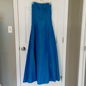 Blue green prom dress